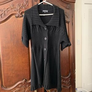 Short sleeve coat sweater